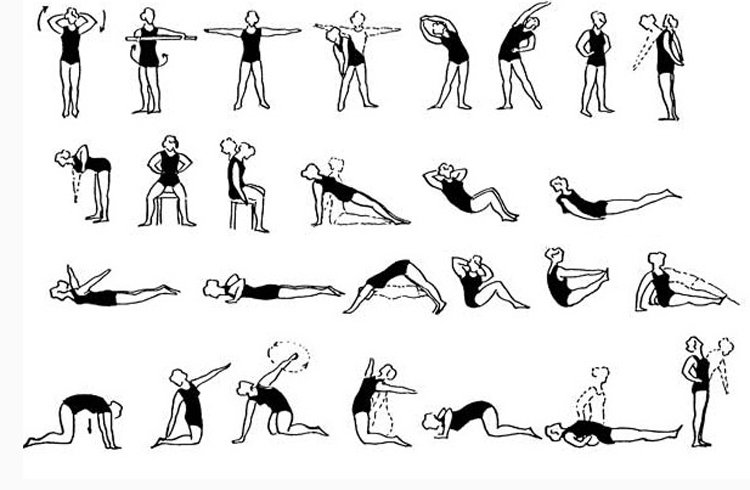 Комплекс упражнений при шейном
