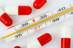 Высокая температура - симптом застуженной спины