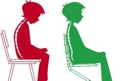 Несоблюдение осанки при сидении за столом - причина сколиоза