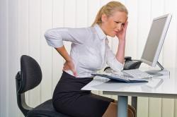 Сидячая работа - причина болей в пояснице