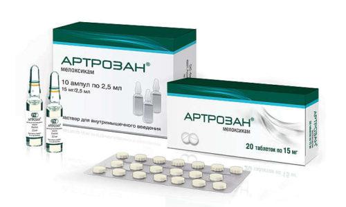 Артрозан рекомендован при остеохондрозе, сопровождающемся болью и дискомфортом